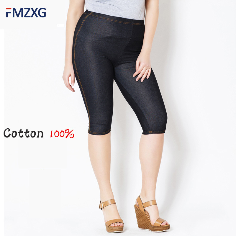 Good Quality Extra Large Size Women   Capris     Pants   Super Stretch Summer Plus Size Female Elastic Slim Sweat   Pants   Calf Length 5xl
