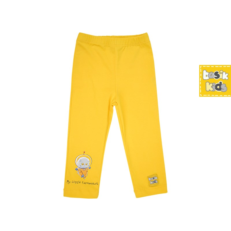 Pants leggings yellow pearl beading leggings
