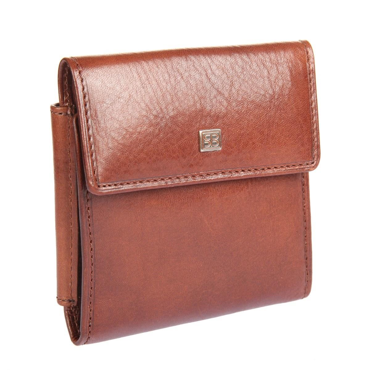 Coin Purse Sergio Belotti 3410 Oro Brown simple retro split leather coin purse w belt buckle brown