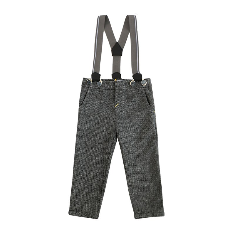 Basik Kids Pants with suspenders kids clothes children clothing basik kids pants with side pockets anthracite