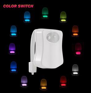 Image 2 - المرحاض السلطانية ليلة ضوء الذكية متعددة الألوان Led مقعد المرحاض ضوء مقاوم للماء الخلفية RGB للحمام المرحاض أضواء