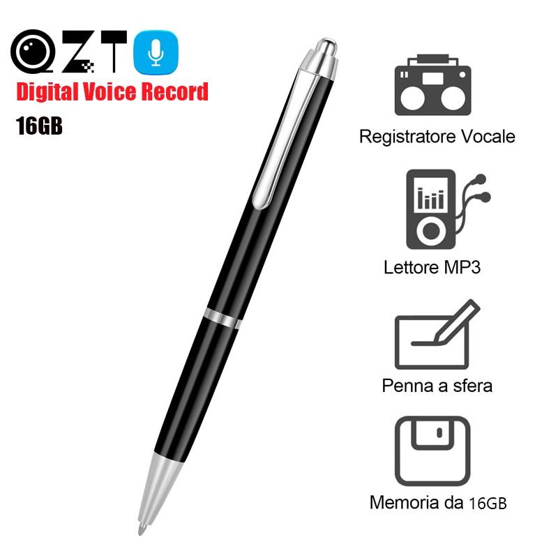 16 GB numérique Audio enregistreur vocal stylo lecteur MP3 Dictaphone stylo d'enregistrement sonore professionnel réduction de bruit grabadora de voz