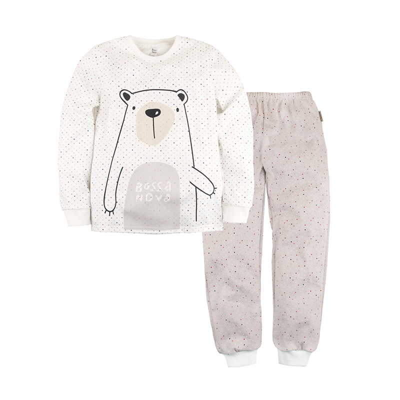 Pajama set Bossa Nova 356K-171m children clothing letter print cami and ruffle shorts pajama set
