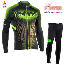 2019 Winter Thermal Fleece Cycling Jerseys Suit Long Sleeve MTB Bicycle Bike Clothes Cycling Clothing Set Fiets Kleding Kids стоимость