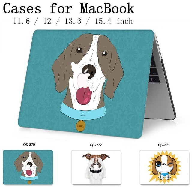 2019 Hot Laptop Case For MacBook Air Pro Retina 11 12 13 15.4 13.3 Inch With Screen Protector Keyboard Cove For Notebook Sleeve