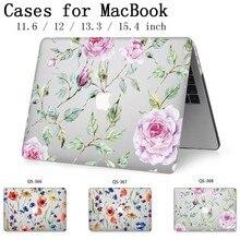 Caixa do portátil Para Apple Macbook 13.3 15.6 Polegada Para MacBook Air Pro Retina Quente 11 12 13 15.4 Com Tela protetor de Teclado Enseada