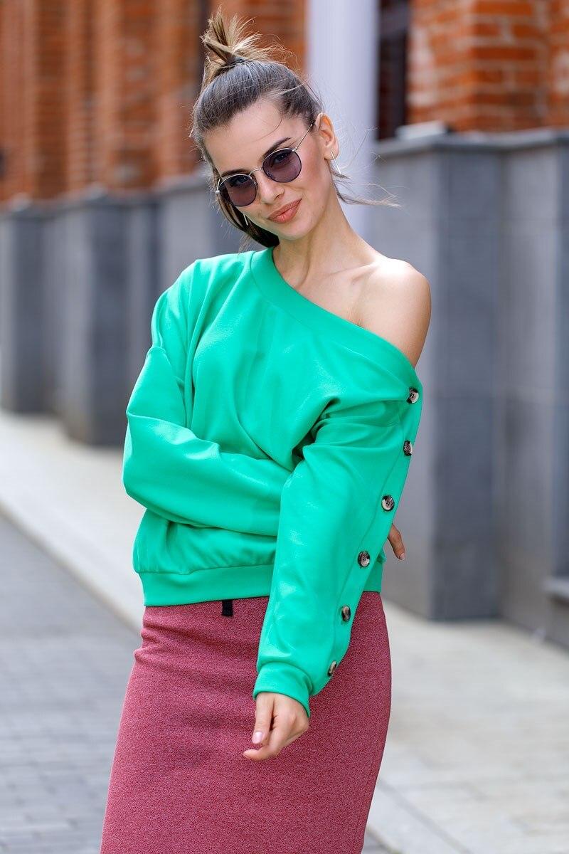Blouse 0801500-32 v neck floral lace applique blouse