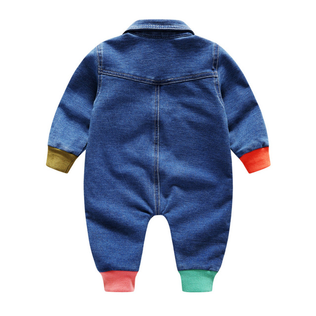 Carters Pasgeboren Kleding Baby Romper Kleding Zachte Outfit Cowboy Overalls 0 1 2 3 Jaar Baby Jeans Meisje Jumpsuits Peuter clothi 1