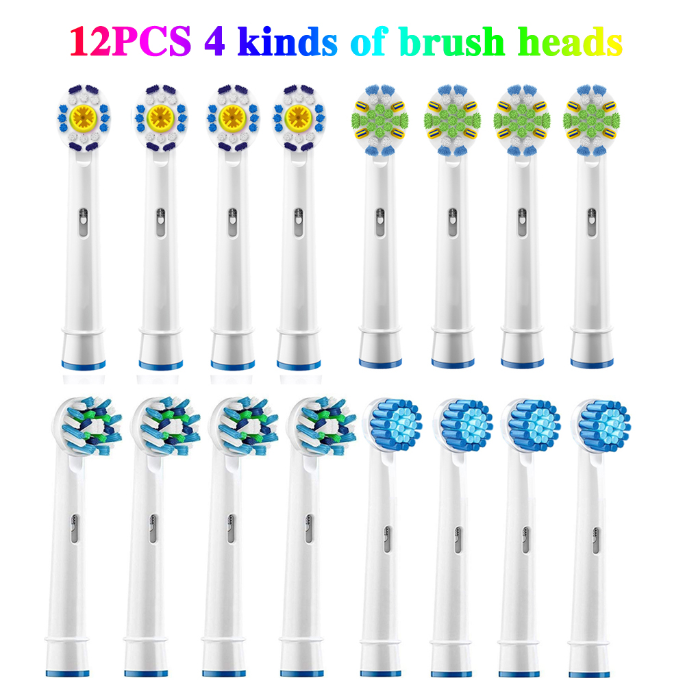 16pcs Electric toothbrush heads Replacement Braun Oral B Guard Bristles Precision Clean Sensitive Gum Cross Action Brush Heads 8ps for oral b sensitive gum care electric toothbrush replacement brush heads refill sensitive brush heads extra soft bristles