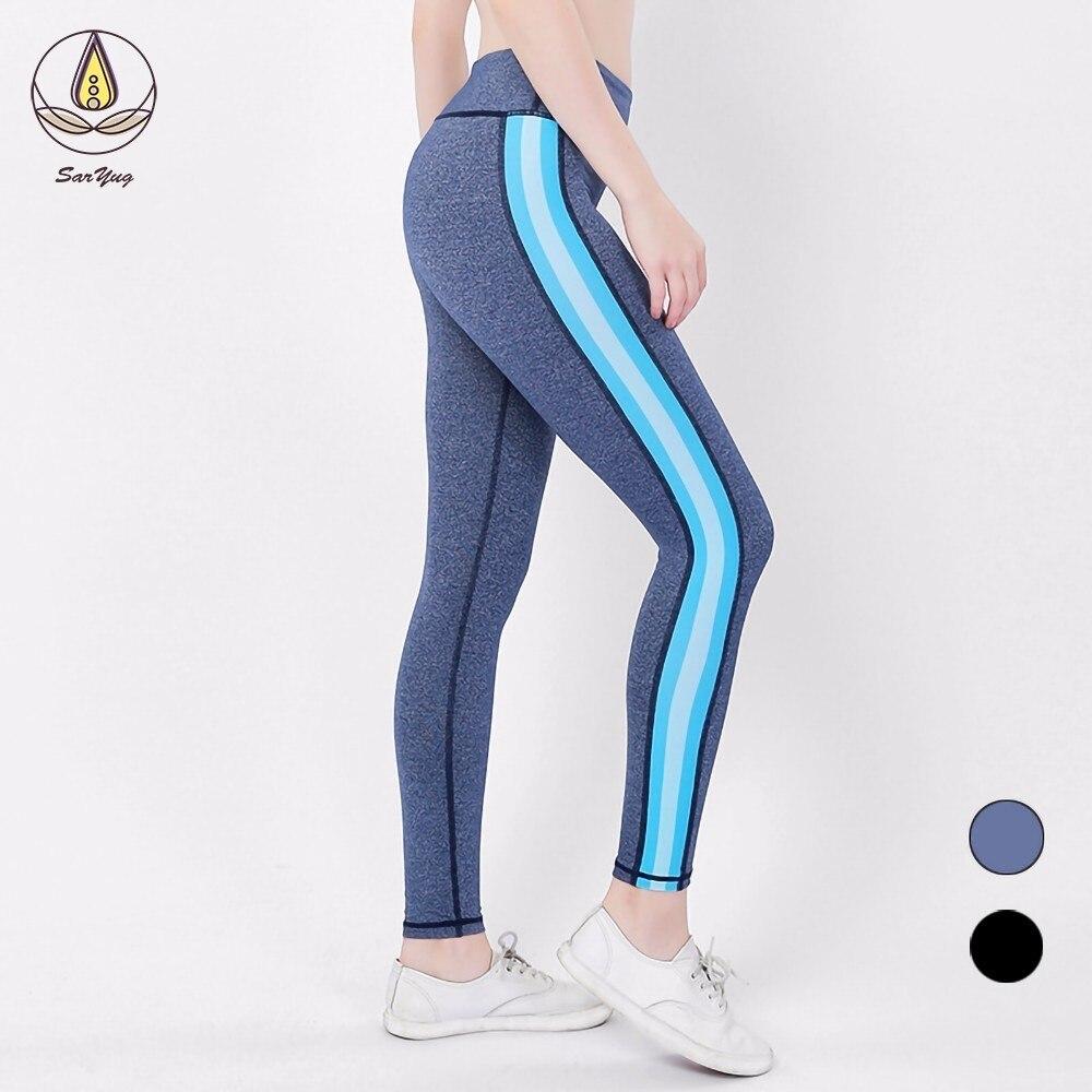 Nouveau Gym femmes Fitness Yoga Denim pantalon Sport Leggings Scrunch fesses ascenseur Leggings taille haute entraînement tenue de Sport hanches pantalon