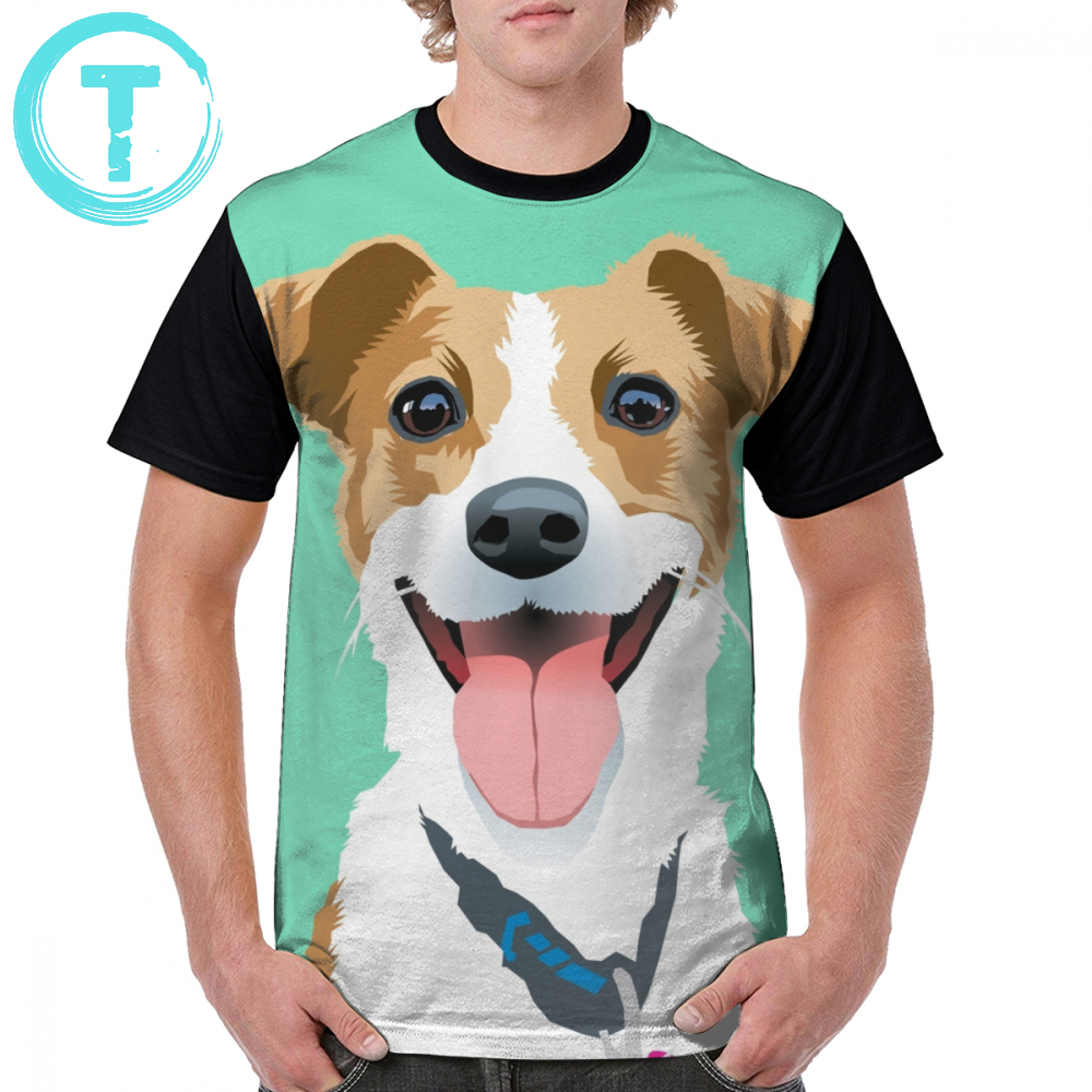 Jack Russell Terrier T Shirt Bella T-Shirt Man Streetwear Graphic Tee Shirt Big Awesome Graphic Short-Sleeve 100 Polyester Tshirt