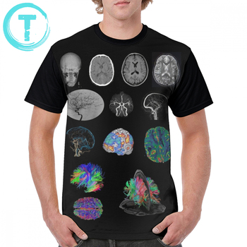 Radiology T Shirt Brain Imaging T-Shirt Man Polyester Graphic Tee Shirt Printed Fashion Oversized Funny Short Sleeves Tshirt