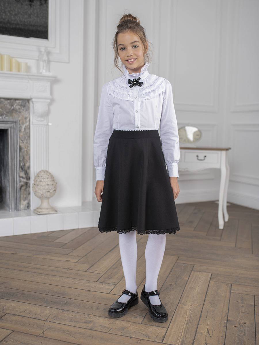 Blouse clothing for girls ruffle trim blouse
