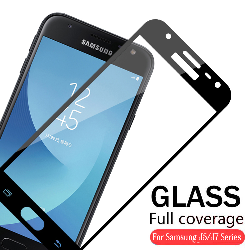 For <font><b>Samsung</b></font> Galaxy J7 2016 Case Protective <font><b>Glass</b></font> On The For Samung Galax J5 J7 2016 2017 J530 J730 Protection Film <font><b>J</b></font> <font><b>5</b></font> 7 image