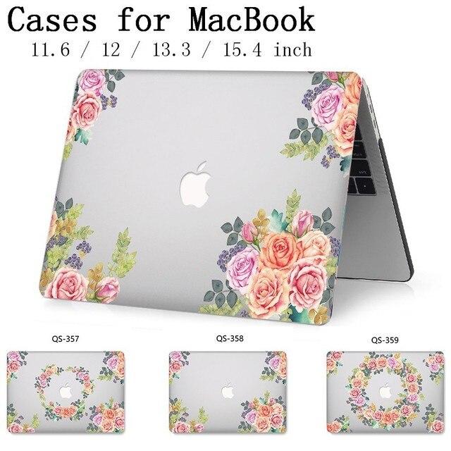 Hot New Laptop Case Para Macbook 13.3 15.6 11 12 13 Polegada Para MacBook Air Pro Retina 15.4 Com Tela protetor de Teclado Enseada Presente