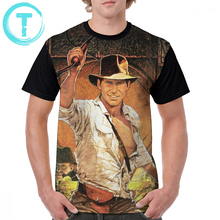 Indiana Jones T Shirt Raiders Of The Lost Ark T-Shirt Short-Sleeve Male Graphic Tee 100 Percent Polyester Tshirt