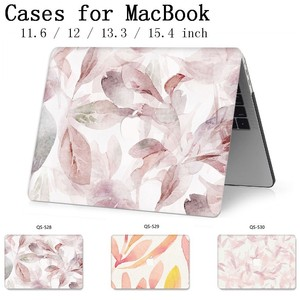 Image 1 - For Laptop Case MacBook 13.3 15.4 Inch For MacBook Air Pro Retina 11 12 13 15 With Screen Protector Keyboard Cove Apple Bag Case
