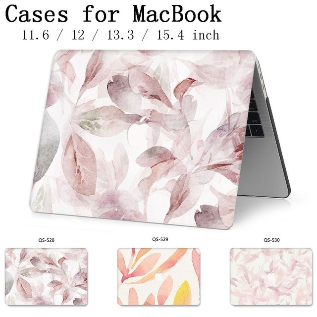 For Laptop Case MacBook 13.3 15.4 Inch For MacBook Air Pro Retina 11 12 13 15 With Screen Protector Keyboard Cove Apple Bag Case