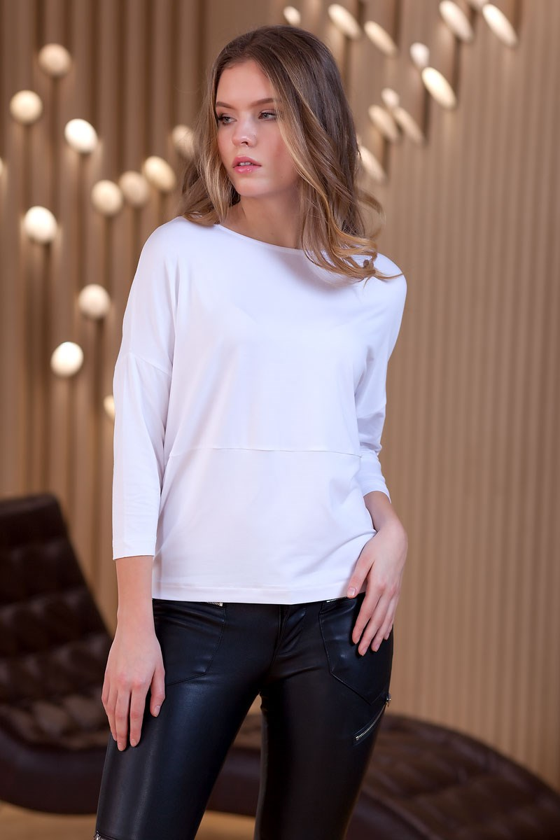 Blouse 1230000-01 navy blouse with self tie