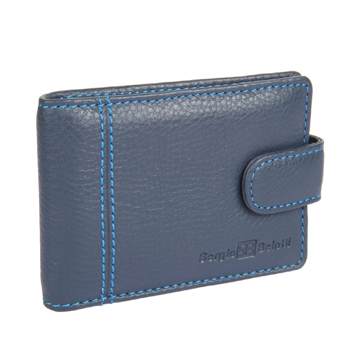 Business Card Holder Sergio Belotti 2929 indigo jeans genuine leather business vintage men s money purse short solid wallets dollar price male carteira masculina with card holders