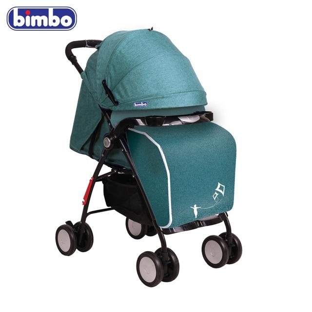 """Коляска-книжка """"BIMBO"""" колеса 8*5"""", глубокое канапе, 5 точечный ремень, чехол, цвет бирюзовый"""
