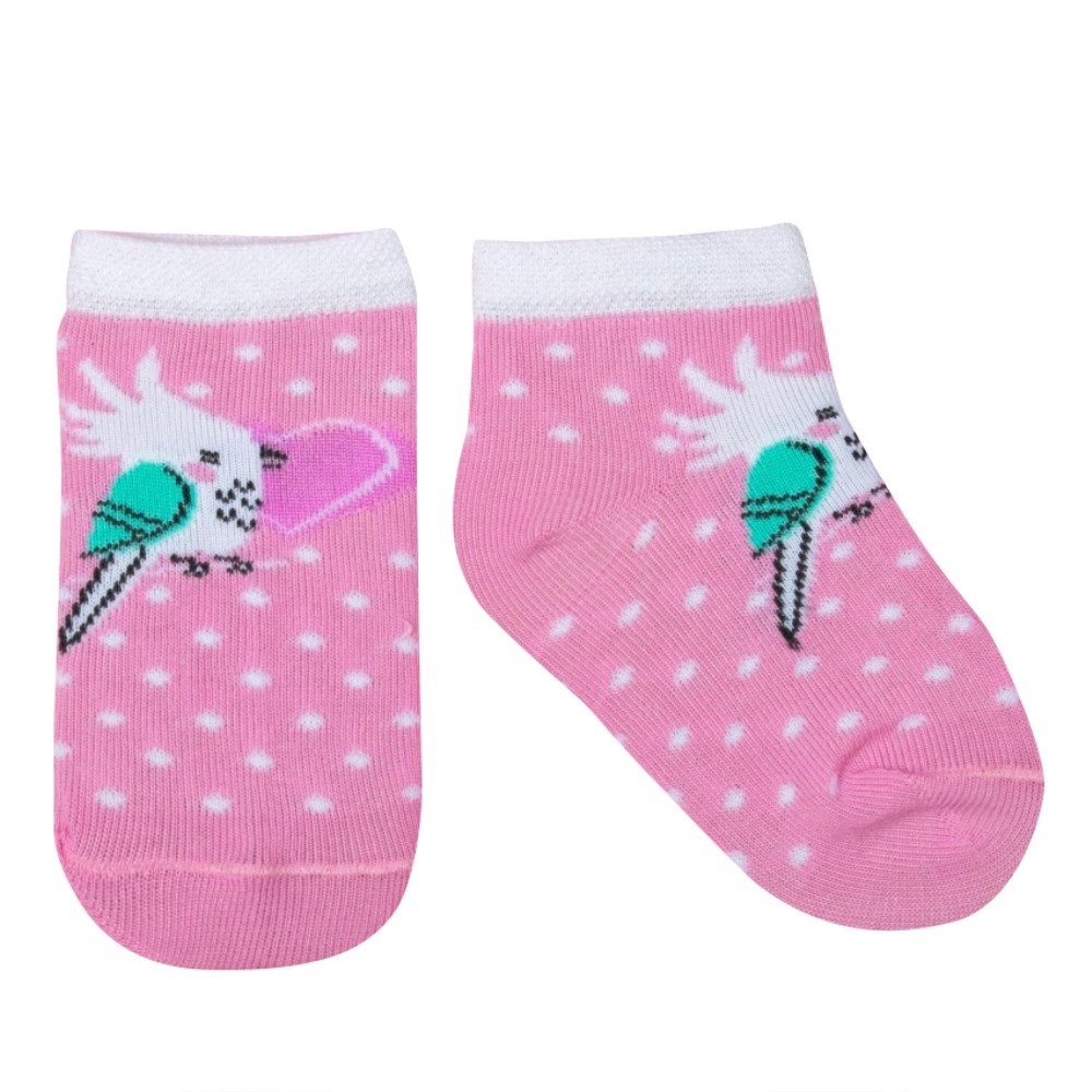 Socks Crumb I Tropics. Parrot, 6-18 month, 100% cotton stylish football cotton socks yellow pair