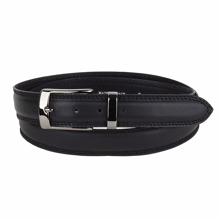 Belt Sergio Belotti unisex 127/35 Victoria Nero M цены онлайн