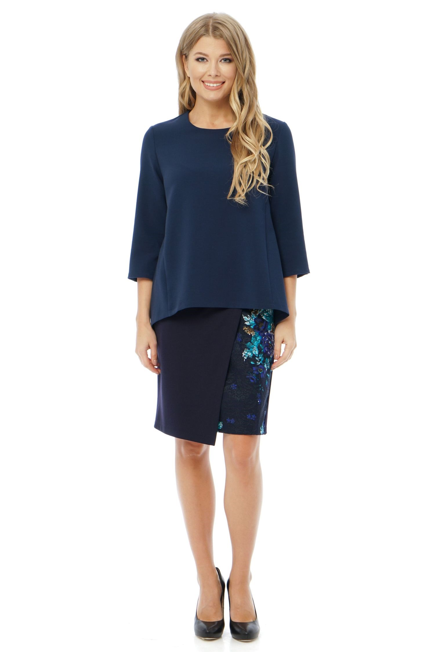 Skirt straight silhouette, with decorative smell front, knee length. светильник потолочный eglo canuma 97038