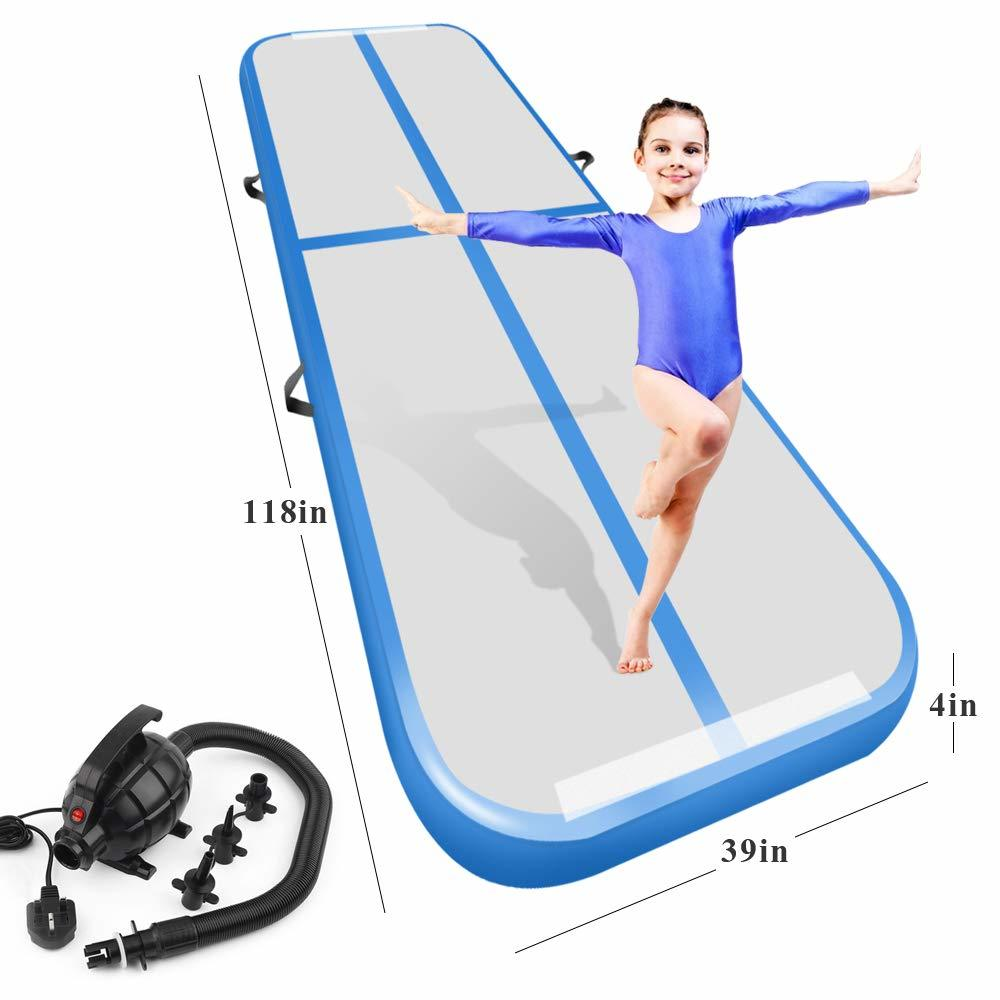 Inflatable Air Track Tumbling Mat For Gymnastics Airtrack Floor Mat For Home Use Cheer Training Tumbling Cheerleading Beach Park