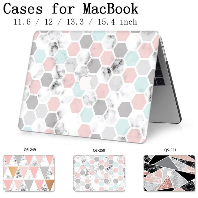 For New Laptop Case Notebook Sleeve Bags For MacBook Air Pro Retina 11 12 13 15.4 13.3 Inch With Screen Protector Keyboard Cove