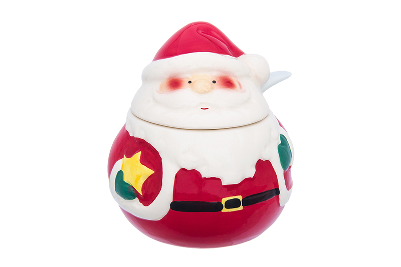 Available from 10.11 Jar for spices Santa Claus Elan Gallery 380097 свитшот print bar santa claus