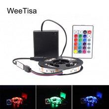 リボン RGB LED ストリップバッテリ駆動 SMD 5050 テープライト防水 IR RF リモコン 4AA バッテリ駆動フィッタ LED ストライプ
