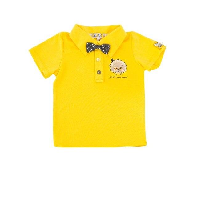 Basik Kids Рубашка-поло с бантиком желтый