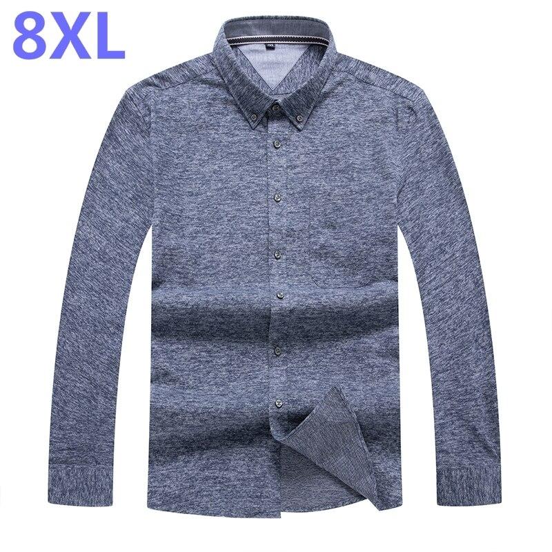 Style À Fit Plus Manches La 7xl Casual Robe Confortable Doux Longues 6xl Hiver Automne Design 3 Chemise Tissu 1 Hommes De Mince Taille Mode 8xl 2 vABAxqpf