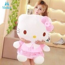 40cm Big Beautiful Charms Hellokitty Soft Plush Toys Adorable Hello Kitty Stuffed Dolls Girls Day Gift Decoration Christmas Gift