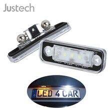 Justech 2 Pcs License Plate Light Lighting Lamps Bulbs 7000K White 3 SMD LEDs for Mercedes Benz SLK R171 S203 W211 S211 / 1103