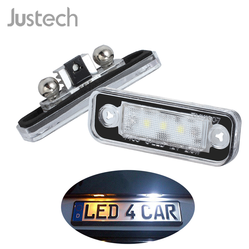 Justech 2 Pcs License Plate Light Lighting Lamps Bulbs 7000K White 3 SMD LEDs for <font><b>Mercedes</b></font> <font><b>Benz</b></font> <font><b>SLK</b></font> R171 S203 W211 S211 / 1103 image