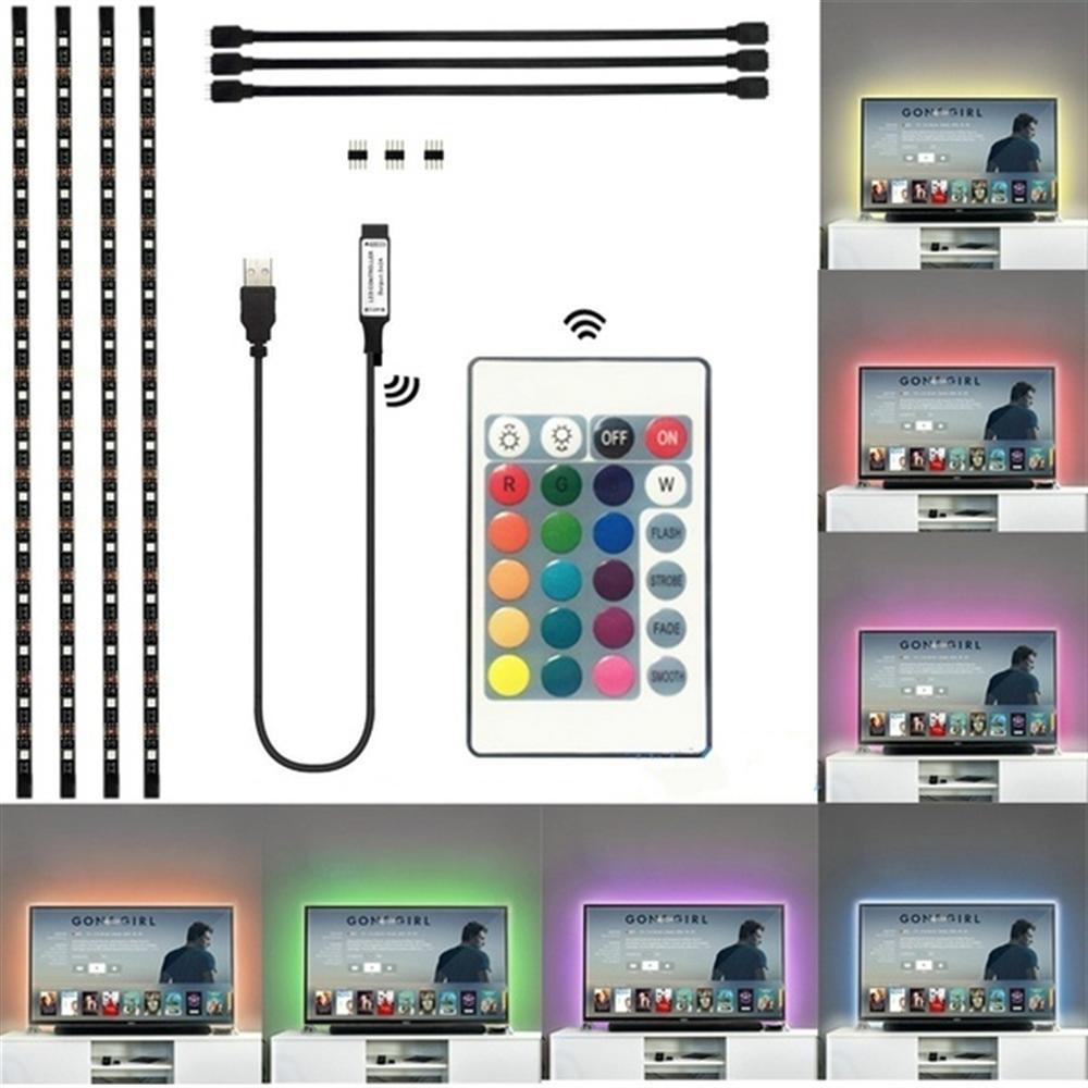 TV Back Ground Light LED Strip Light USB Super bright SMD 5050 with RGB IR remote control Water resistant flexible LED stripTV Back Ground Light LED Strip Light USB Super bright SMD 5050 with RGB IR remote control Water resistant flexible LED strip