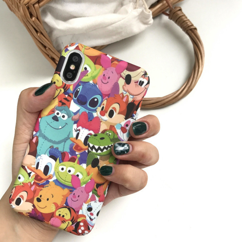 Cartoon big collection zoo phone case for iPhoneX XS XR XSMax 8 7 6 6S PluS all inclusive hard shell drop protection cover-in Fitted Cases from Cellphones & Telecommunications