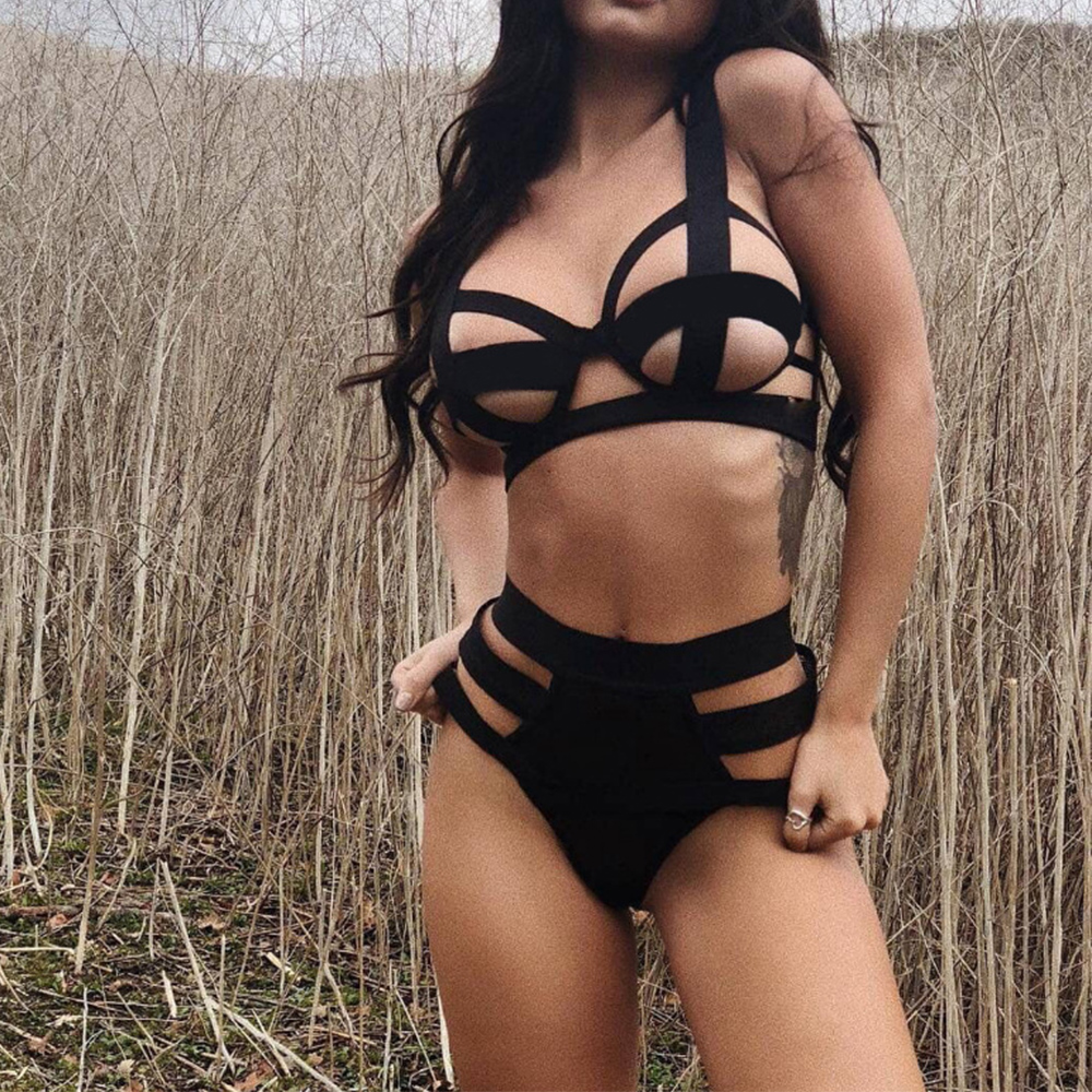 Harness Underwear Straps Sexy Two Piece Set Summer Clothes For Women Outfits Bondage Cage Straps Bra Garter Body Belts Lingerie