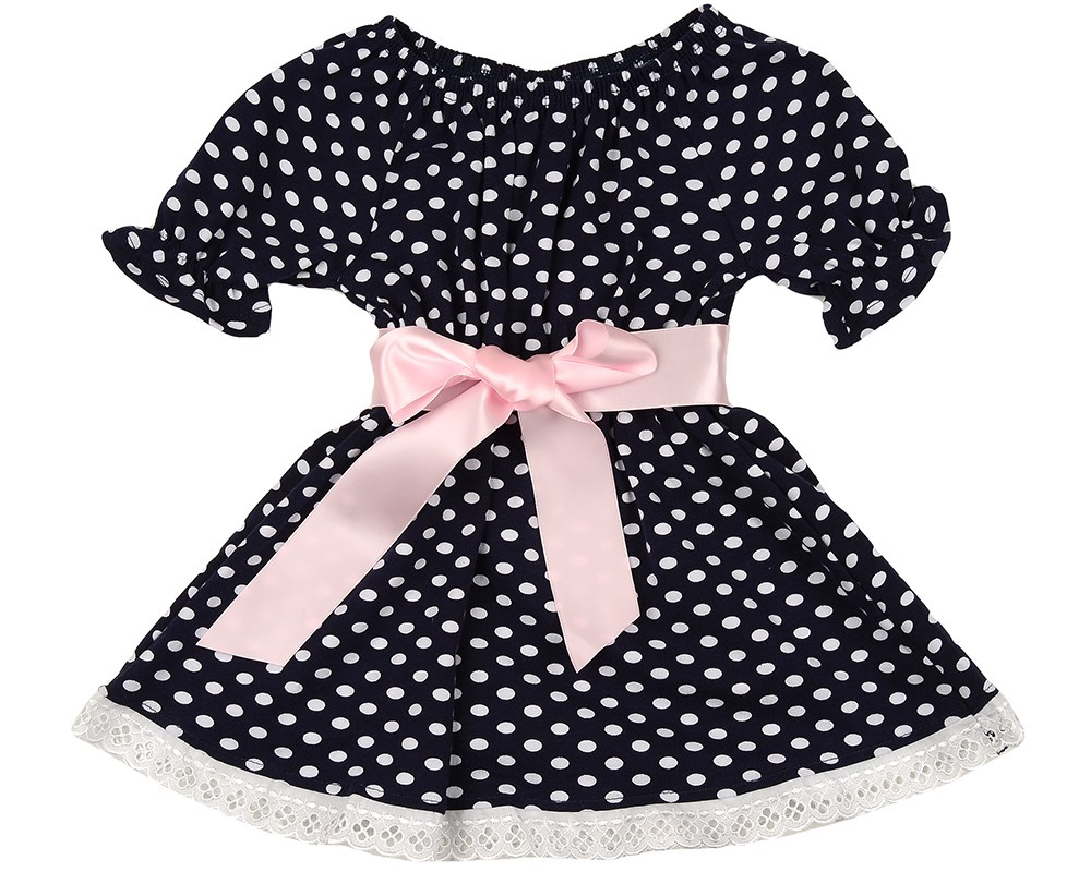 Dress dot 104 116 cm платья для девочки summer gtyle baby girl версия для печати flower dot girl dress for wedding girls party dress with bow dress for 4 8 years