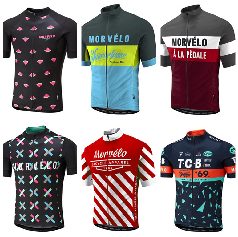 Morvelo Cycling Jersey Clothing Shirt Short-Sleeve Bicycle-Clothes Bike Ropa-Ciclismo