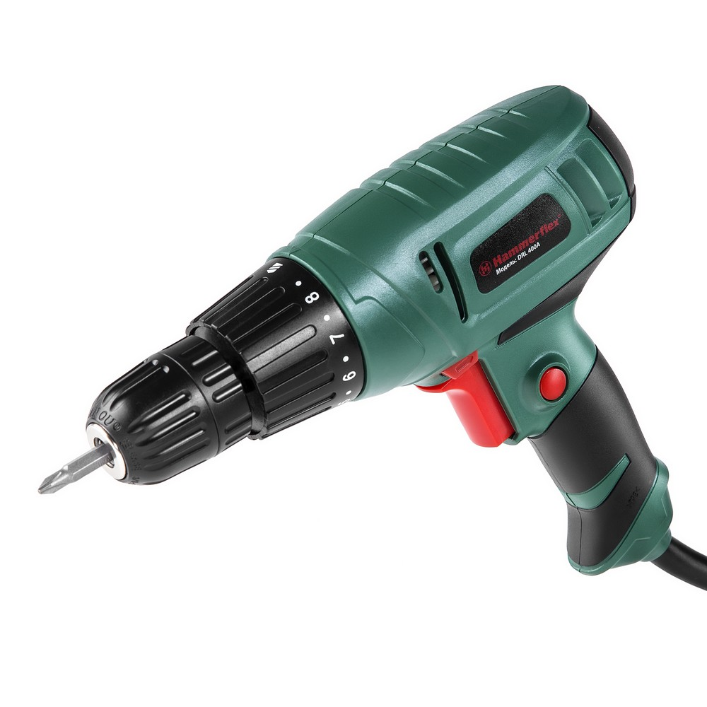 цена Hammer Flex drill screwdriver DRL400A 280W 10mm 0750r min reverse 22Nm