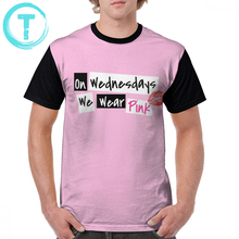 Mean Girls T Shirt On Wednesdays We Wear Pink T-Shirt Short Sleeve Men Graphic Tee Shirt 100 Percent Polyester Plus size Tshirt plus sequin sleeve graphic tee