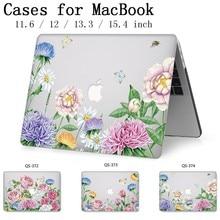 Caixa do portátil Para Apple Macbook 13.3 15.6 Polegada Quente Para MacBook Air Pro Retina 11 12 13 15.4 Com Tela protetor de Teclado Enseada
