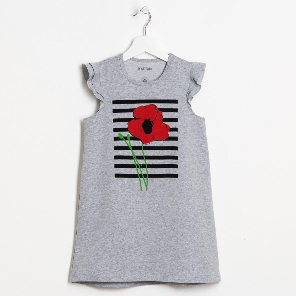 Dress Poppies melange p p 34 7 8 years. 100% cotton keyboard 7 years
