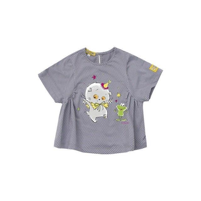 Basik Kids Кофточка серая в белый горошек