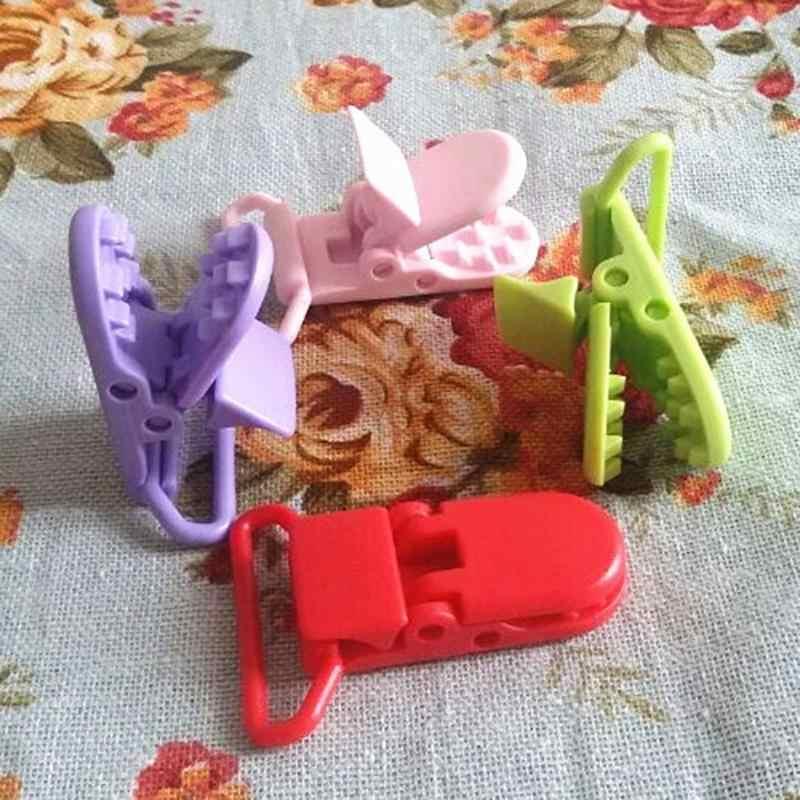 Chupete con pinza de soporte de plástico para bebés 10 Uds.
