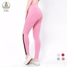 2019 Sport Women Fitness Yoga Denim Pants Leggins Scrunch Butt Lift Gym Leggings High Waist Workout Sports Wear Hips Up Trousers цены
