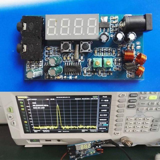 DC 12V FM Transmitter PLL Stereo 0.5W FM Radio broadcast Station receiver Digital LED display frequency diy kits  NEW